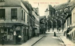 27-PONT DE L'ARCHE...RUE DE L'EGLISE AVEC TABAC GROS PLAN......CPA  ANIMEE - Pont-de-l'Arche