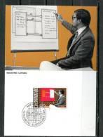 """Liechtenstein 1984 Maxicart  Mi.Nr.859,MK """" Berufe:Leitung,Meister,Manager,Firmenchef ,Geschäftsführer"""" 1 MK Used - Factories & Industries"""