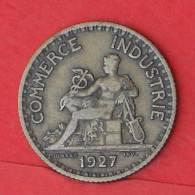FRANCE  1  FRANC  1927   KM# 876  -    (2029) - H. 1 Franc