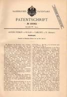 Original Patentschrift - A. Fiedler In Kukan / Kokonin B. Gablonz , 1898 , Roulette , Kreisel - Roulette , Casino !!! - Antikspielzeug