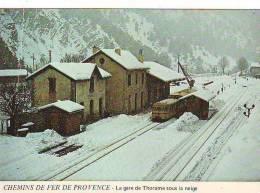 Chemin De Fer De Provence - La Gare De THORAME Sous La Neige - France
