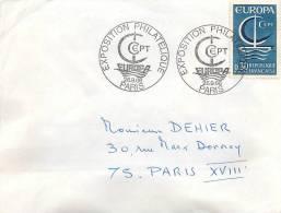 ENVELOPPE EXPOSITION PHILATELIQUE PARIS 26 SEPTEMBRE 1966 - Postmark Collection (Covers)