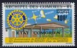 COMORES Poste Aérienne  93 ** MNH Surcharge ETAT COMORIEN : Rotary International Club De Moroni - Comoros