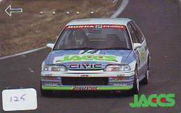RALLYE VOITURE Télécarte (125) HONDA CIVIC * BRIDGESTONE *  RALLY CAR AUTO - Phonecard WRC RACING CAR - Cars
