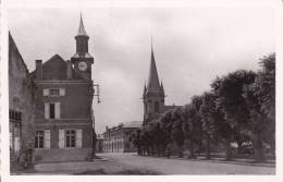 CPSM COURCELLES CHAUSSY MOSELLE TEMPLE ECOLE MAIRIE 1955 - Frankreich