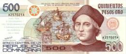 Dominican Republic 500 Pesos 1992 Pick 140.a UNC - Dominicaine