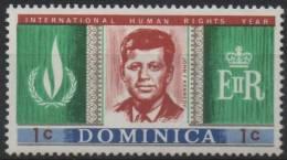 DOMINIQUE DOMINICA 201 ** MNH John F. KENNEDY USA Président Etats-Unis United States - Dominica (1978-...)
