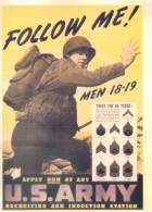 WWII  World War II WW2 Postcard ---  Follow Me , US Army - Storia