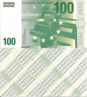 Test Note - SNIX-165, 100 Euro, Siemens Nixdorf, Euro Stars / ATM - [17] Falsi & Campioni