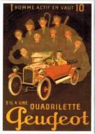Thème - Transport - Quadrilette Peugeot - Voitures De Tourisme