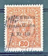 Venezia Giulia 1918 SS 1 N. 13 H. 80 Bruno Rosso USATO - Venezia Giulia