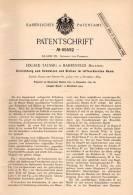Original Patentschrift - E. Taussig In Bahrenfeld , Holstein , 1891 , Apparat Zum Scmelzen Und Gießen , Giesserei  !!! - Historische Dokumente