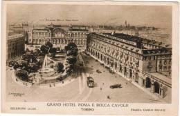 Torino, Grand Hotel Roma E Rocca Cavour, Piazzo Carlo Felice (pk11796) - Bars, Hotels & Restaurants