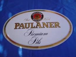 """Plaque émaillée """"BIERE PAULANER"""" - Advertising (Porcelain) Signs"""