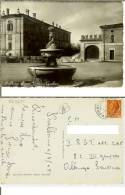Pralboino (Brescia): Piazza Veronica Gambara. Cartolina B/n Viaggiata 1955 (timbro Postale) - Brescia