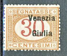 Venezia Giulia 1918 Segnatasse SS 4 N. 4 C. 30 Arancio E Carminio MNH Cat. € 75 - Venezia Giulia