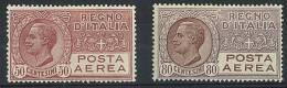 ITALIA REGNO  - POSTA AEREA 2A + 3 A   II° SCELTA - LINGUELLATA * - HINGED - Correo Aéreo
