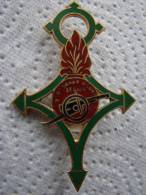 INSIGNE SAHARIEN LEGION ETRANGERE 2e BATTERIE PORTEE -DRAGO R74 - Landmacht