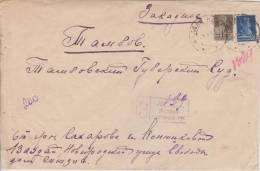 AO Russia Russie USSR URSS 1927 Mi. 278 + 280 R-Brief Von Wallaj (Novgorod) Nach Tambov - Storia Postale