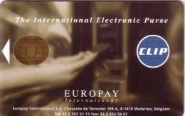 BELGIUM CARTE A PUCE CHIP CARD DEMO EUROPAY CLIP GEMPLUS RARE - Frankreich