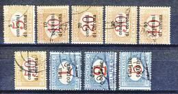 Trento E Trieste 1919 Segnatasse SS 3 N. 1 - 9 USATI  Cat. € 950 - Trento & Trieste
