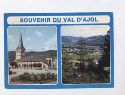 88 ---LE VAL D´AJOL --2 VUES EGLISE / GENERALE  --RECTO/ VERSO  ---100.33 - Francia