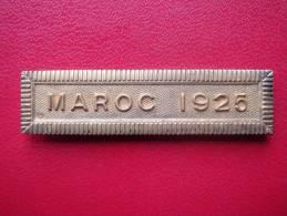 Barette - Agrafe  . MAROC 1925 ( Doré + Poinçon ) - France