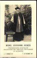 ALTAMURA  BARI MONSIGNORE   GIOVANNI   GENCO     8   X 12,5   IMAGE PIEUSES  LUTTINO - Religion & Esotericism