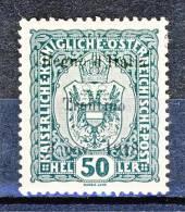 Trentino Alto Adige 1918 SS 1 N. 11  50H Verde MLH Cat. € 90 - Trentino