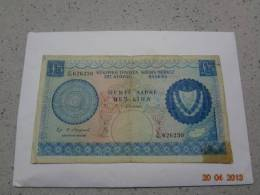 Cyprus 1967  5 Pounds (1.9.1967) Heavy Used - Chypre