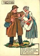 Humour Militaire 1940 - Communiqué  Du,  Notre Artillerie Lourde - Humour