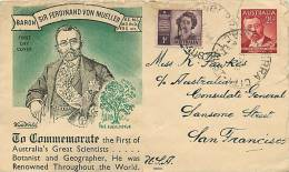 1948  F. Von Mueller  Wide World Cachet To USA - FDC