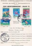 Algérie Notice Philatélique 1ier Jour 1975  Jeux Méditerranéens Alger 1975 - Algerije (1962-...)