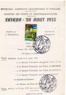 Algerie   Notice Philatelique 1ier Jour 1975  Skikda 20 Aout 1955 - Algérie (1962-...)