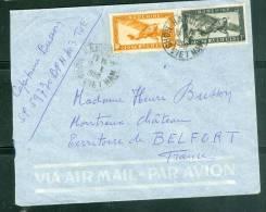 Indochine Yvert  PA N°11 ET 12  SUR LETTRE De Ha Noi Pour La France En 1950  - Ab5806 - Covers & Documents