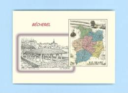 CP MD 35422 - CARTE POSTALE DESSIN / Département - 35 BECHEREL - Bécherel