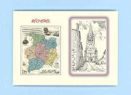 CP MD 35445 - CARTE POSTALE DESSIN / Département - 35 BECHEREL - Bécherel