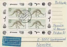 Dinosaurier Block Auf Luftpost Beleg - Postzegels
