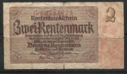 ALLEMAGNE . 2 RENTENMARK . 1937 . - [ 3] 1918-1933 : République De Weimar