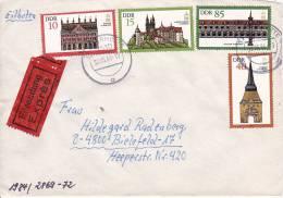 DDR Eil-Brief Mi.-Nr. 2869-2872 - Stempel Tangerhütte (0057) - Storia Postale