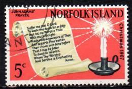 NORFOLK ISLAND 1967 Christmas. - Prayer Of John Adams And Candle 5C  FU - Norfolkinsel