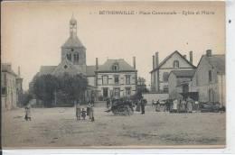 BETHENIVILLE - Place Communale - Eglise Et Mairie - Bétheniville