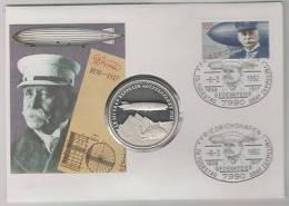 Zeppelin Numisbrief  75.Todestag - Postzegels