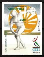 Albanie Shqiperia 2001 N° BF 104 ** Sport, Jeux Méditerrannéens, Tunis, Tunisie, Lancer De Disque, Athlétisme, Logo - Albanië