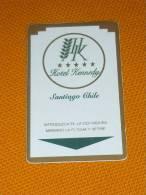 Chile - Santiago Kennedy Hotel Magnetic Key Card - Grecia