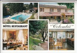 GORSES 46 - Bar Hotel Restaurant CLOMBIE Chez Mme Eliane BAZEQUE - CPSM CPM GF - Lot - Frankrijk