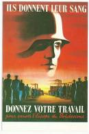 GERMANY PROPAGANDA REPRODUCTION OF 1943 POSTER IN POSTCARD (NEW EDITION) -G - Guerre 1939-45