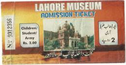 Pakistan Historical City Lahore Museum Entry Ticket. - Tickets - Entradas