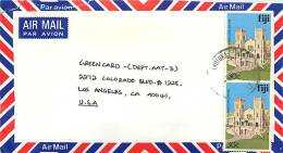 1994  Air Letter To USA - Fiji (1970-...)