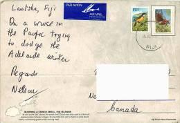 Air Postcard To Canada  Birds - Fiji (1970-...)